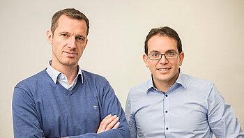 Gründerfoto von Michael Schahpar (CMO) und Harold Artés (CTO)
