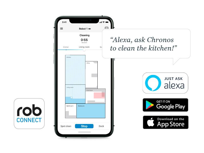 Benutzerdefinierte Steuerung von Haushaltsrobotern via ROB-Connect App oder Alexa